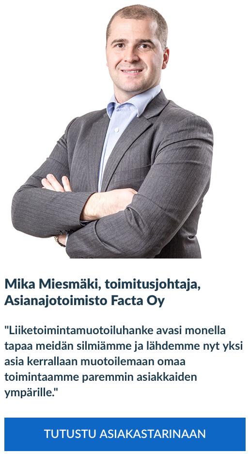 Liiketoimintamuotoilu, Mika Miesmäki, Asianajotoimisto Facta Oy
