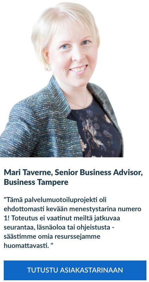Palvelumuotoilu, Mari Taverne, Business Tampere